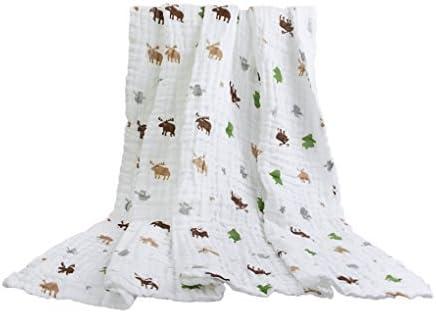 Toallas de baño para bebé, de algodón, de muselina, manta para bebé, suave, cálida, toalla para