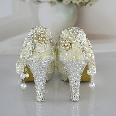 Stöckel Blanco de párrafos sintética Boda Zapatos Pumps High tacón Color amp; Piel tacón cirior festivität Vestido Mujer Fiesta Super Oficina Mujer Heels x0tvq1