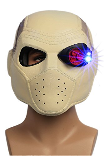 XCOSER Marksman Mask Helmet Props for Halloween Cosplay (Deadshot Cosplay Costume)