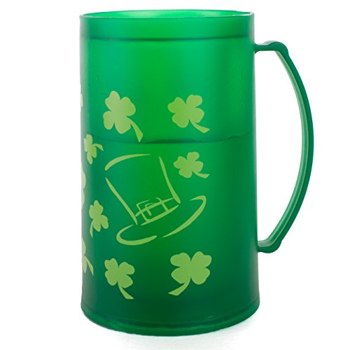 Chef Craft St. Patrick's Shamrock Freezer Mug 16 oz Mug, Green