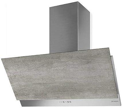 Faber - Campana extractora de pared Grexia, acabado gris claro y acero inoxidable, 90 cm: Amazon.es: Grandes electrodomésticos