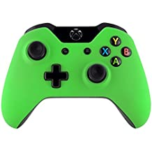 eXtremeRate Custom Design Unique Top Shell Case Front Housing Replacement Faceplate Kits for Xbox One Remote Controller Cover (Soft Touch Green)