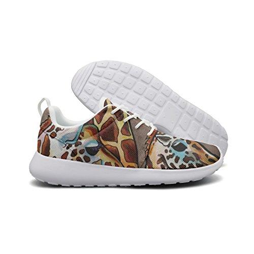 Saerg Bearry Women's African Animals African Giraffe Lightweight Mesh Running Shoes Print Sneakers