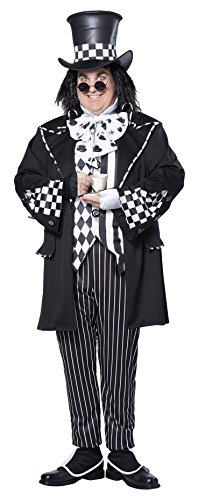 2016 In Wonderland Costume Alice (California Costumes Men's Plus-Size Dark Mad Hatter From Alice In Wonderland In Plus, Multi, Plus)