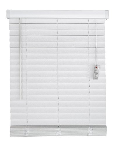 "Price comparison product image DEZ Furnishings Faux Wood Blind, 2-Inch, White - 45.5"" W X 48"" L by DEZ Furnishings"
