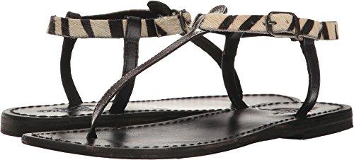 Freebird Women's carib Flat Sandal, Black/Multi, 7 B US