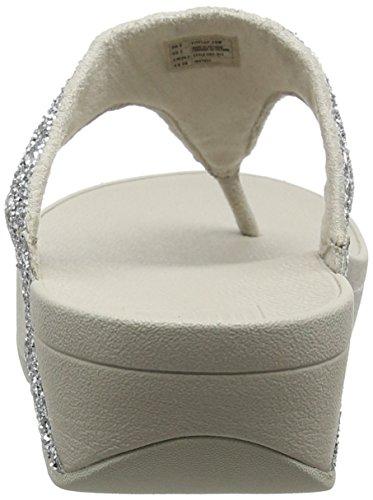 Sandali Fitflop Donna Glitterball Con Tacco A Punta T-argento (argento Glitterato)
