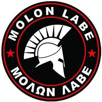 OD Green Molon Labe Sticker Decal Vinyl Come Take Them 2nd Ammendment v1e