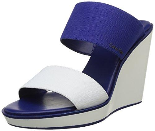 Calvin Klein Kenya - Sandalias de Vestir de material sintético mujer Blanco - Blanc (Wid)