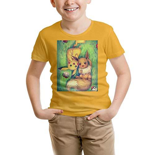 JJAX Girl's Short Sleeves Soft Shirt for Boy's Funny Graphic Fashion Tee
