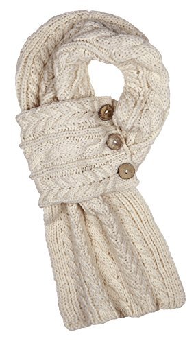 Aran Traditions Cable Knit Wrap Button Scarf ()