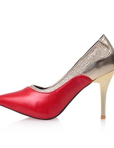 GGX/Damen Schuhe Stiletto Heel Spitz Zulaufender Zehenbereich Sparkling Glitter Pumpe mehr Farbe erhältlich white-us6 / eu36 / uk4 / cn36