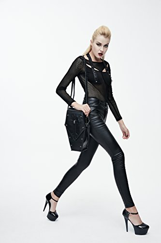 Para Mochila Poliuretano Steel Negro Bolso De Master Mujer wXxAq7Cn
