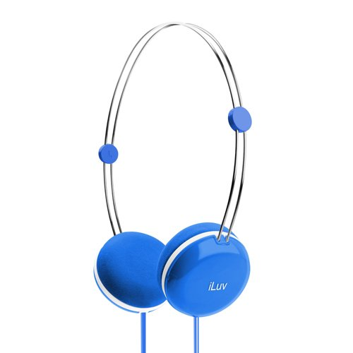 iLuv iHP613BLU Sweet Cotton High Fidelity Stereo Headphones with Speak EZ Remote for Apple iPad, iPod and iPhone - Blue (Discontinued by Manufacturer)