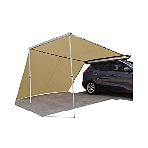 QOZY 2.5M X 3M Car Side Awning & Extension Roof Rack Tents ...