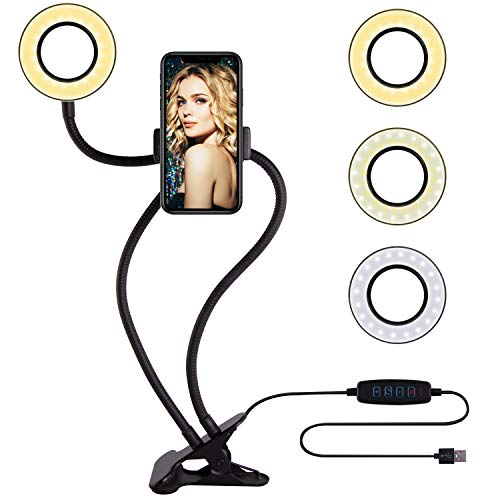 Selfie Ring Light with Cell Phone Holder Circle Lights LED Lighting for -