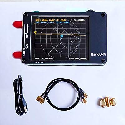 """Slickbox NanoVNA Vector Network Analyzer 2.8"""" LCD 50KHz-900MHz HF VHF UHF Antenna"""