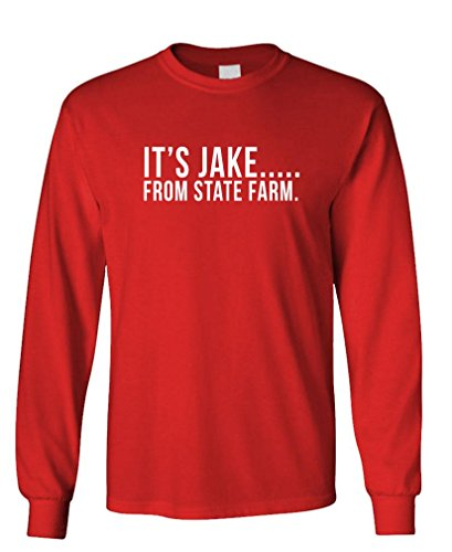 its-jake-from-state-farm-funny-commercial-long-sleeved-tee-s-red