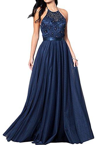 trapecio Vestido azul mujer Topkleider para marino wCAT5Wnq5