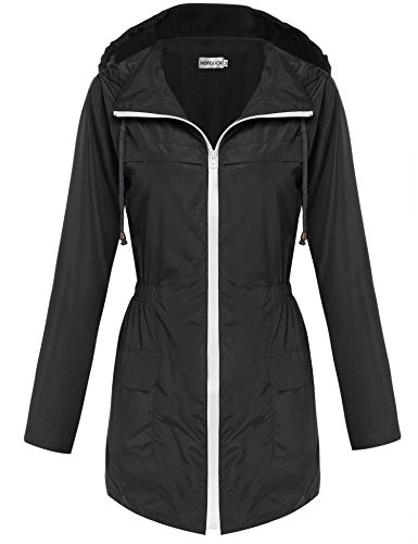 Hotouch Womens Lightweight Travel Trench Waterproof