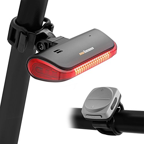 Nubeam NB-600 USB Rechargeable Bicycle Taillight - Wireless Anti-theft Alarm, Directional Turn Signal Light, Electronic Bell, Rear Lamp - Wireless Operation and Water - Led Nb