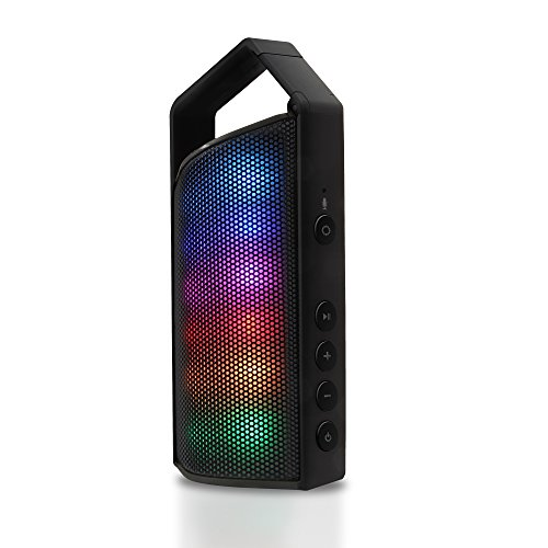 Latte SoundMagic Express Portable Bluetooth Speaker with 8 LED Modes Including 2 Equalizer (Black) by Latte