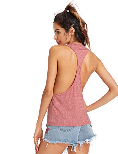 SweatyRocks Women's Sleeveless Flowy Loose Fit Racerback Yoga Workout Tank Top X-Large - Tank Sleep