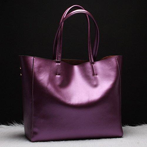 Temperamental Bronce Noble Bolsa Bolso Grande Bolsa GUANGMING77 violet qwnXAIRAYx