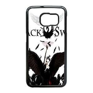 Cool Design Case For Samsung Galaxy S6 Edge Black Swan Phone Case