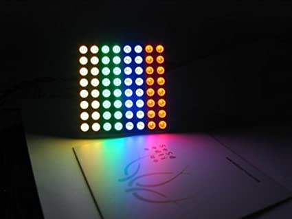 Super Bright RGB LED matrix - 60mm square 8x8