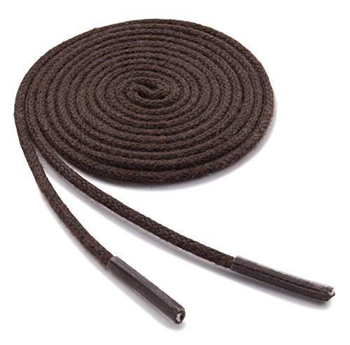 (OrthoStep Waxed Extra Thin Dress Round Brown 28 inch Shoelaces 2 Pair Pack)