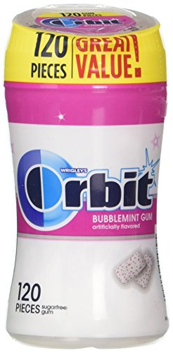(Orbit White Bubblemint Sugarfree Gum, 120 piece bottle)
