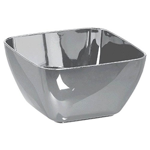 Amscan Party Perfect Reusable Mini Bowls Tableware Plastic, 1'', Pack of 30 Supplies (180 Piece), Silver by Amscan