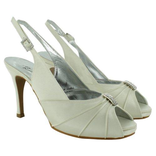 Footwear Sensation - Zapatos destalonados de sintético mujer Blanco - Ivory