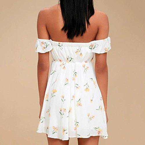 gaddrt Damen Fashion Kleid Blumendruck Schulterfrei ...