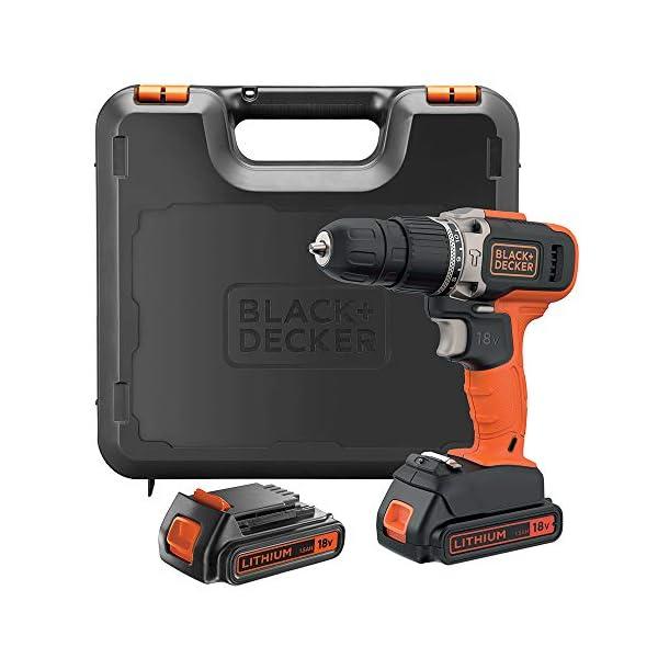 Black+Decker Hammer Drill 18V + 2 x 1.5Ah