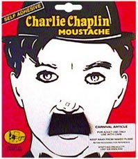 Charlie Chaplin Costume Kids (Chaplin Fancy Dress Moustache Tash Tache)