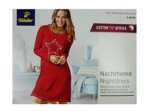 hohes Ansehen Preis klar in Sicht TCM Tchibo Damen Nachthemd Nachtwäsche rot S weiche Single ...