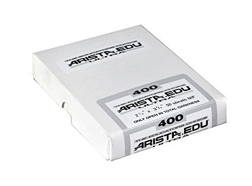 Arista EDU Ultra 400 ISO Black & White Film, 2.25x3.25, 50 Sheets