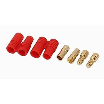 Tono eDealMax Cable de Audio oro Rojo de Doble tornillo Tipo de conector DE 3,