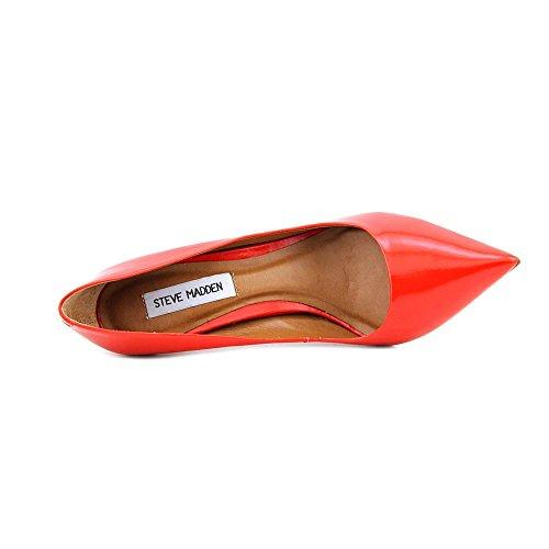 STEVE MADDEN PROTO - Zapatos de salon para mujer cuero rojo (Red Leather)