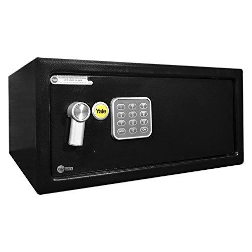 Yale YLV/200/DB1 Metal Negro - Caja fuerte (Cerradura con combinación, Llave plana, Metal, Negro, 430 mm, 200 mm, 10 kg)