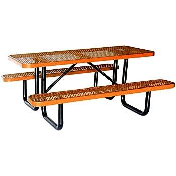 Amazoncom Lifeyard Expanded Metal Mesh Commercial Blue Picnic - Mesh picnic table