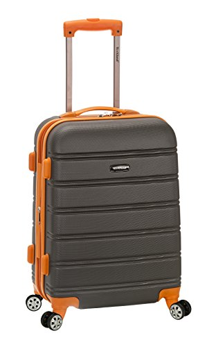 Rockland Melbourne 20 Inch Expandable ABS Carry On, Charcoal, One Size