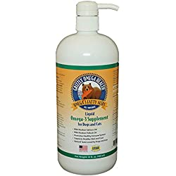 Grizzly Omega Health for Dogs & Cats, Wild Salmon Oil/Pollock Oil Omega-3 Blend