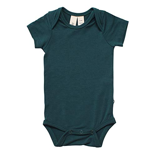 KYTE BABY Bodysuit - Unisex Bodysuits - Short Sleeve Baby Bodysuits Made from Organic Bamboo Rayon Material (18-24 Months, Emerald)