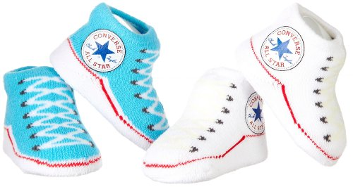 Converse 2 Pack Infant Booties 0-6 Months Blue/White