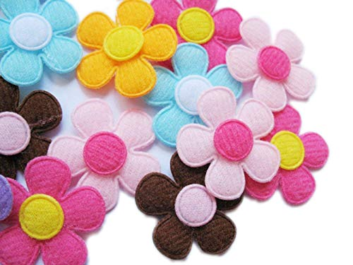 YYCRAFT Pack Of 90pcs Padded Spring Felt Flower Appliques 9 (Flower Felt Bag)