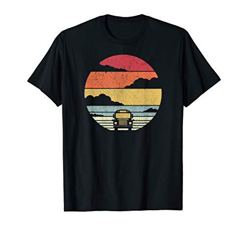 School Bus Shirt. Retro Style T-Shirt (Bus Shirt Driver)