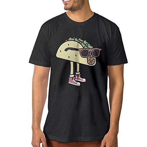 Heleo O'C Cool Sunglass Taco Men's T-shirt 3X Black
